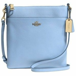 NWT Coach 52348 Textured NS Swingpack baby blue